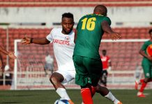 Adisu Regaassa of Defence Force challenges Ugonna Uzochukwu of Rangers