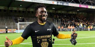 Falkenbergs FF of Sweden striker, Chissom Egbuchulam