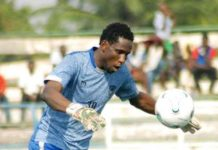 Wikki Tourists goalkeeper Ibrahim Pius