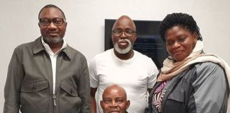 Nigerian Billionaire Femi Otedola, Amaju Pinnick Visit Christian Chukwu At The Wellington Hospital, London