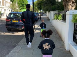 Mikel Obi Releases Breathtaking Picture Lunching With His Two Beautiful Daughters