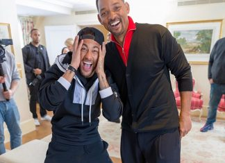 Footballer Neymar Releases Exciting New Photo With Will Smith And Calls It The Best Time Of His Life