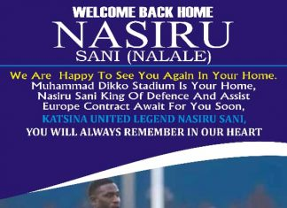 Nasiru Sani Returns Back Home